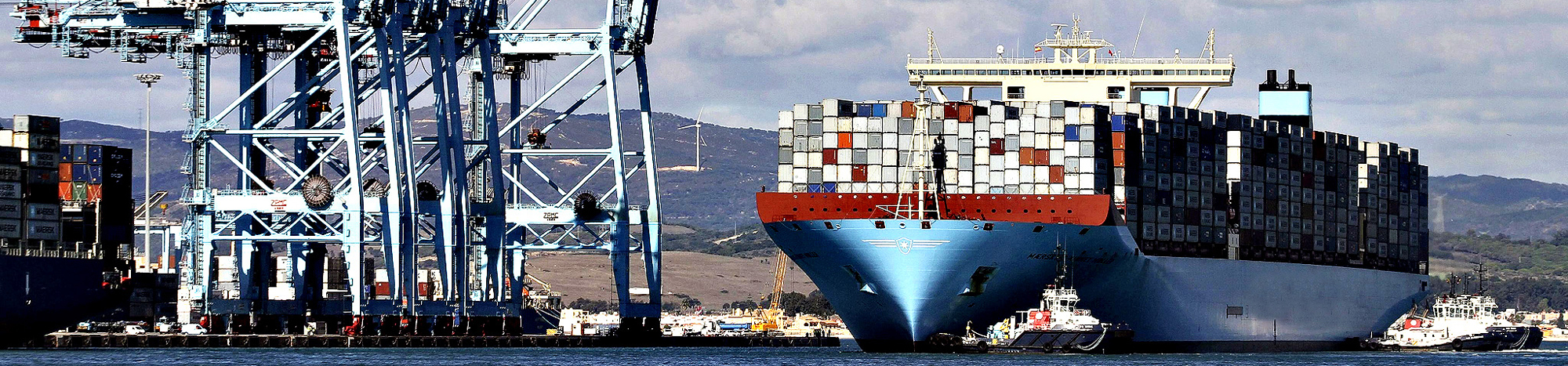 The world's biggest container ship…epa03936770 The world's big